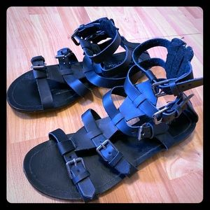 LAST DAY FOR SALE, Black Gladiator Sandals